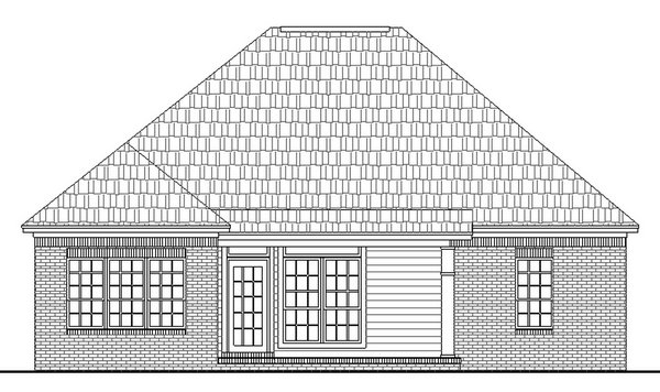 Bungalow Cottage European Traditional House Plan 59001 Rear Elevation