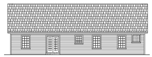 Ranch Traditional Rear Elevation of Plan 59002
