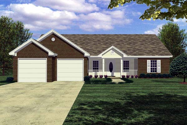 Cottage Ranch Traditional Elevation of Plan 59004
