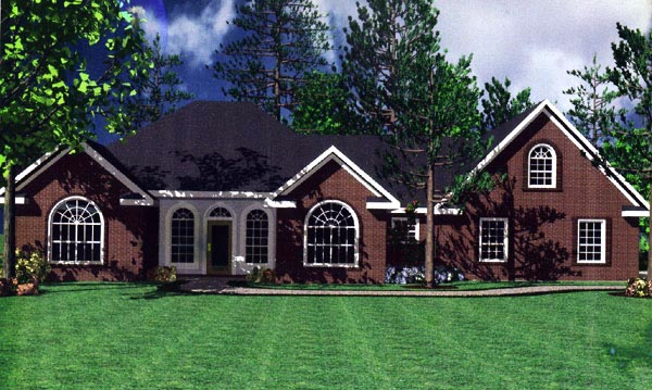 European House Plan 59007 Elevation