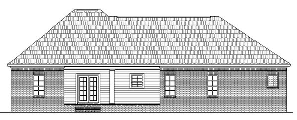 European Ranch Traditional House Plan 59008 Rear Elevation