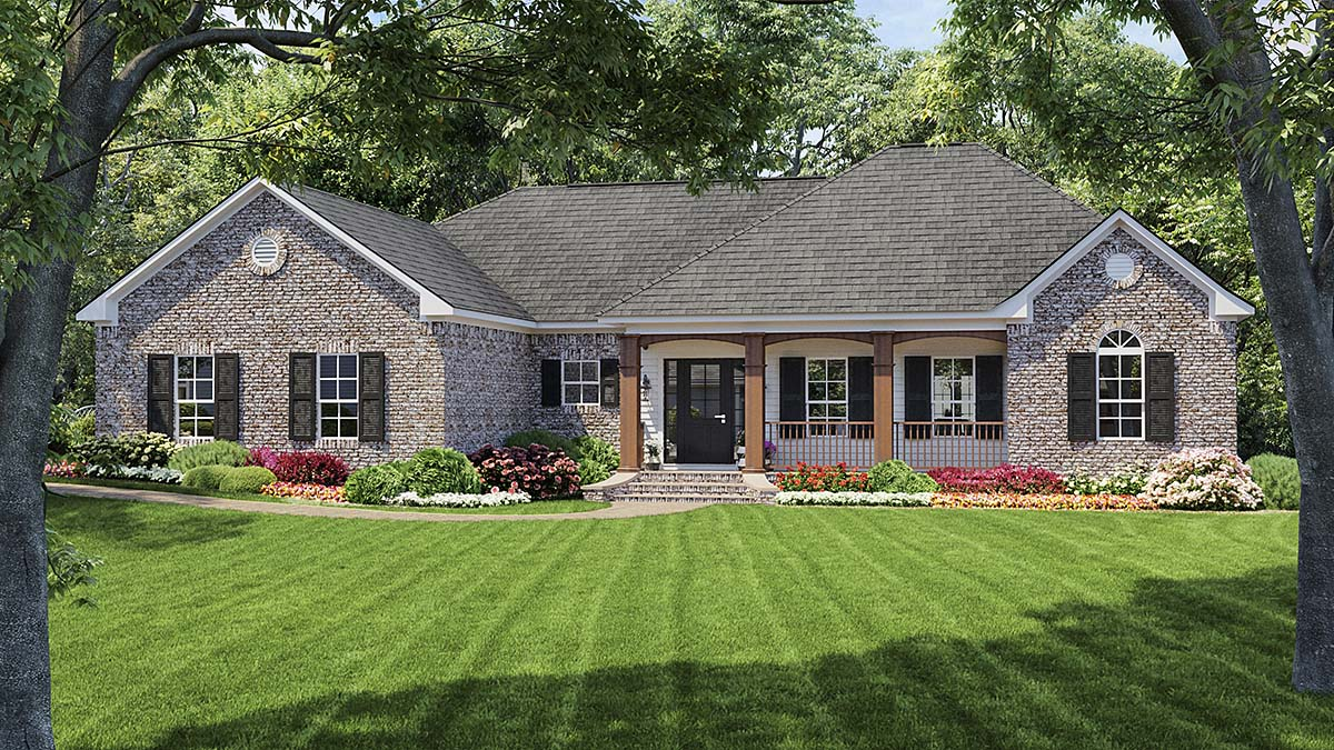 Colonial European Traditional House Plan 59009