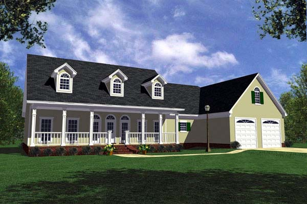Country Farmhouse Ranch House Plan 59014 Elevation