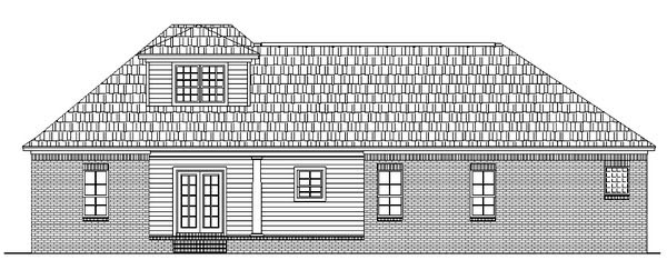 European Ranch Traditional House Plan 59015 Rear Elevation