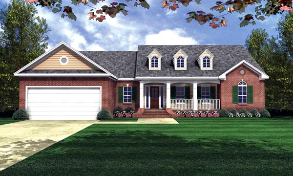 Country Ranch Traditional House Plan 59016 Elevation