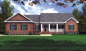 Country Ranch Traditional House Plan 59017 Elevation