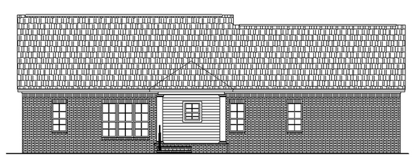 Country Ranch Traditional Rear Elevation of Plan 59017