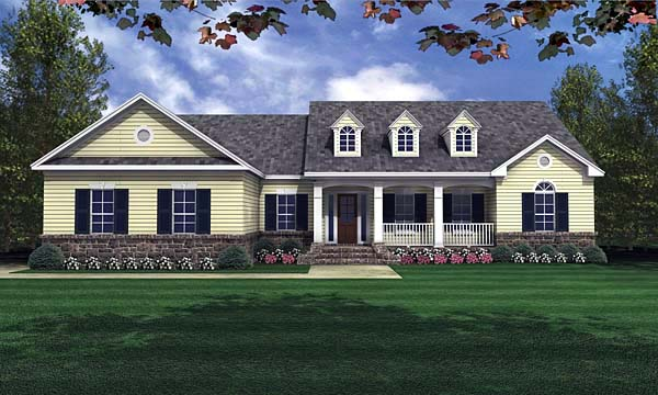 Country Traditional House Plan 59023 Elevation