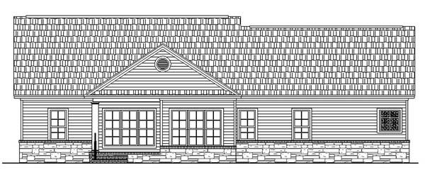 Country Traditional House Plan 59023 Rear Elevation
