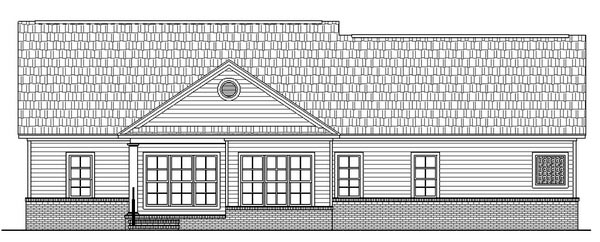 Country Ranch Traditional Rear Elevation of Plan 59025