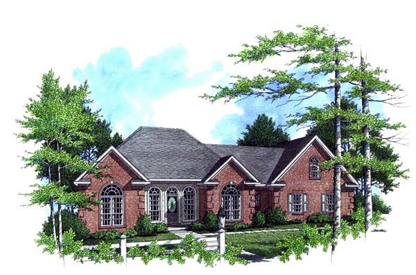 European , Ranch , Traditional , Elevation of Plan 59026