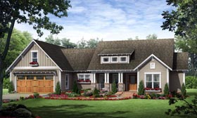 Cottage Country Craftsman House Plan 59027 Elevation