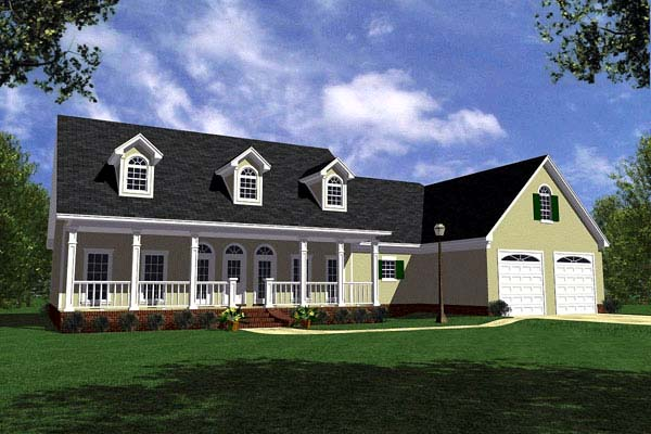 Country Farmhouse Ranch Southern House Plan 59029 Elevation