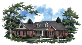 Country European Southern Traditional House Plan 59038 Elevation