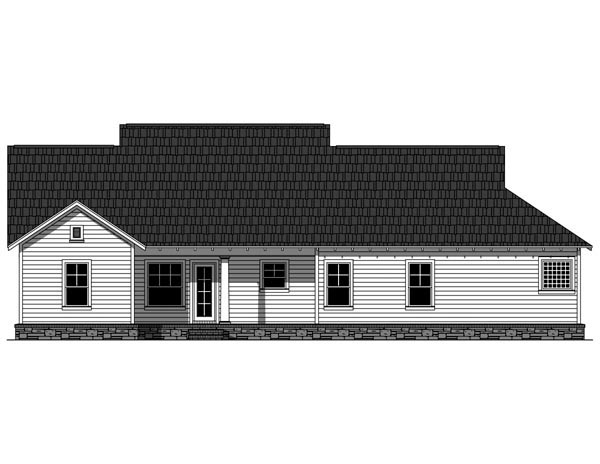 Bungalow Cottage Craftsman House Plan 59042 Rear Elevation