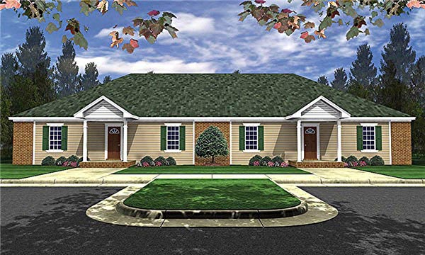 Country Ranch Multi-Family Plan 59048 Elevation