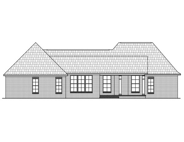 European Ranch Traditional House Plan 59049 Rear Elevation