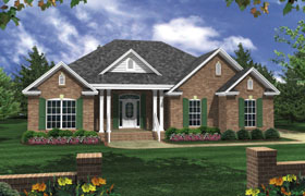 Cottage European Traditional House Plan 59053 Elevation