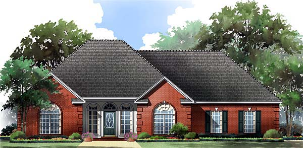Cottage , Country , European , Traditional House Plan 59055 with 3 Beds, 2 Baths, 2 Car Garage Elevation
