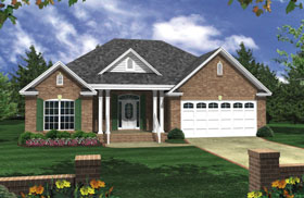 Cottage Country Southern Traditional House Plan 59056 Elevation