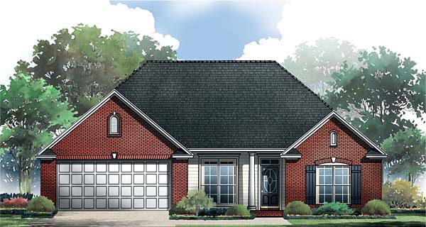 European Ranch Traditional House Plan 59062 Elevation