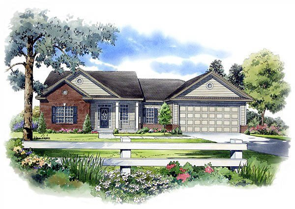 Ranch Traditional House Plan 59065 Elevation
