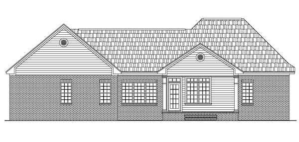 European Ranch Traditional House Plan 59069 Rear Elevation
