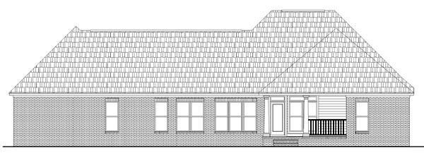 Country Farmhouse French Country Southern House Plan 59072 Rear Elevation