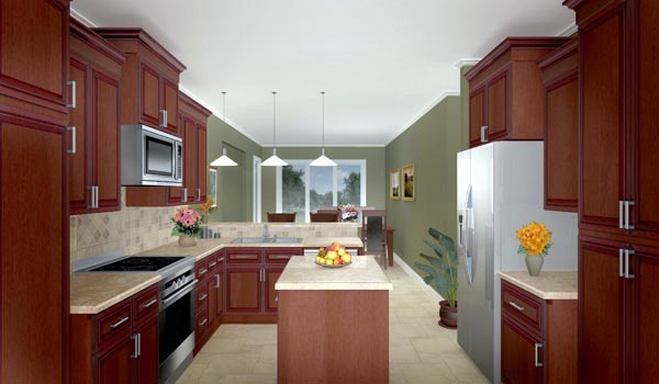 Ranch, Traditional House Plan 59073 with 3 Beds, 4 Baths, 2 Car Garage Picture 2