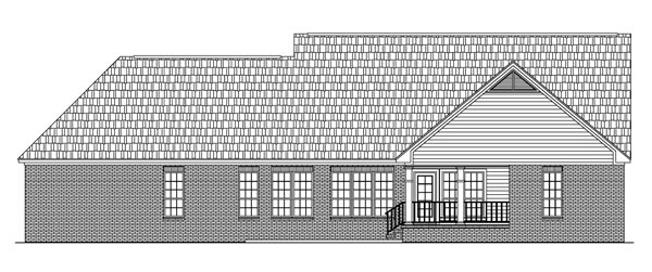 Ranch Traditional House Plan 59073 Rear Elevation