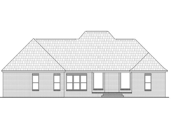 Country European Traditional House Plan 59078 Rear Elevation