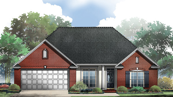 European Ranch Traditional House Plan 59083 Elevation