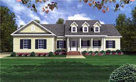 Traditional , Country House Plan 59085 with 3 Beds, 3 Baths, 2 Car Garage Elevation