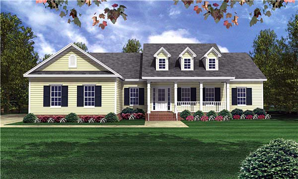 Country Traditional House Plan 59085 Elevation