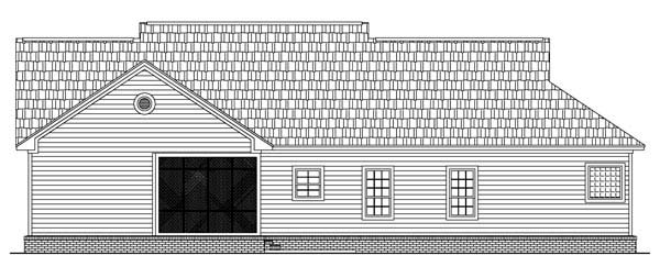 Country Traditional House Plan 59085 Rear Elevation