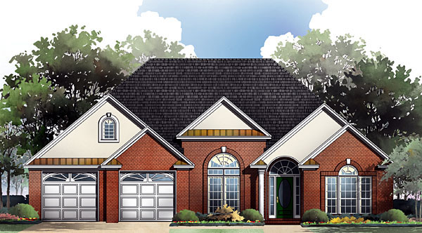 Craftsman European Traditional House Plan 59086 Elevation