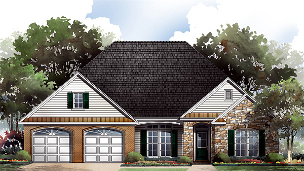 Craftsman European Traditional House Plan 59088 Elevation