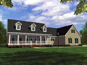 Traditional , Southern , Ranch , Country House Plan 59095 with 3 Beds, 3 Baths, 2 Car Garage Elevation