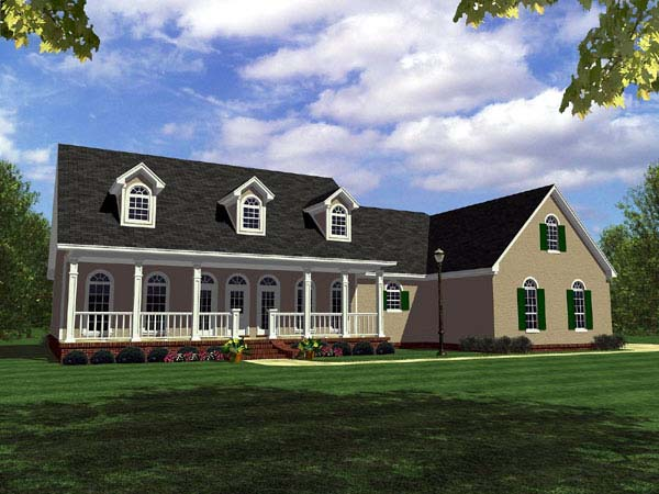 Country Ranch Southern Traditional House Plan 59095 Elevation