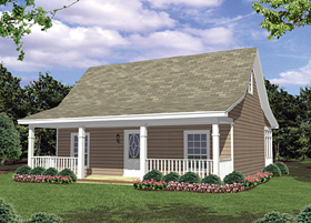 Plan Number 59096 - 800 Square Feet