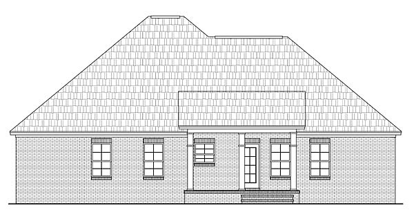 Country European Traditional House Plan 59097 Rear Elevation
