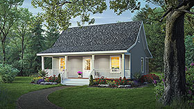 Plan Number 59098 - 800 Square Feet