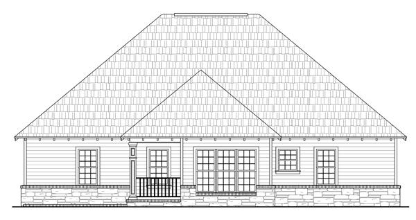 Bungalow Craftsman European House Plan 59101 Rear Elevation