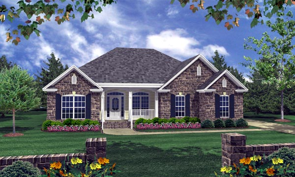 Country European Traditional House Plan 59103 Elevation