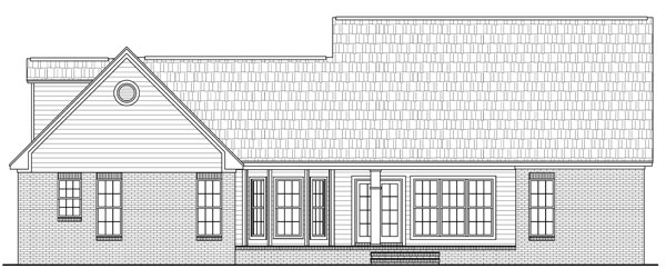 Cape Cod , Craftsman , Traditional House Plan 59104 with 3 Beds, 2 Baths, 2 Car Garage Rear Elevation