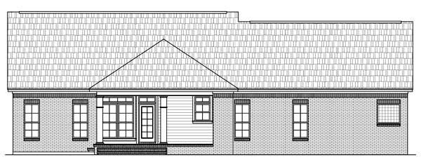 Country , European , Traditional House Plan 59106 with 3 Beds, 2.5 Baths, 2 Car Garage Rear Elevation