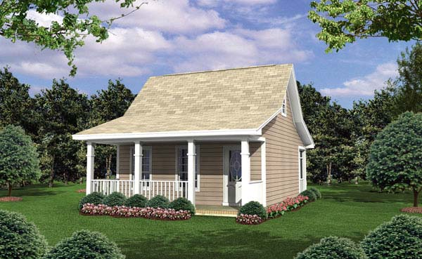 Cottage , Country , Southern , Elevation of Plan 59108