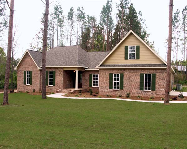 European , Ranch , Traditional House Plan 59112 with 4 Beds, 3 Baths, 2 Car Garage Elevation