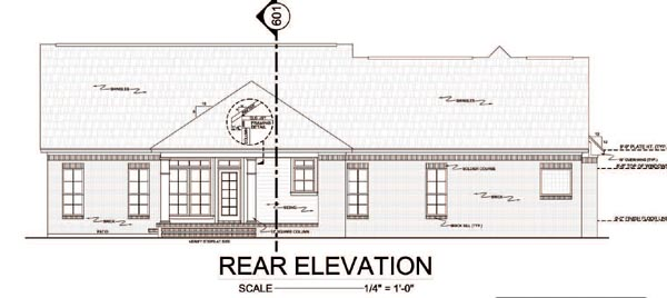 Country Traditional House Plan 59114 Rear Elevation
