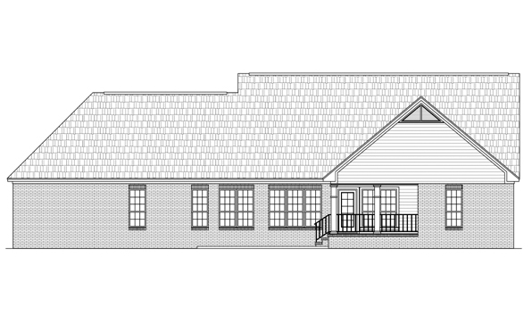 Ranch Traditional House Plan 59115 Rear Elevation